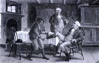 supper after the hunt; recounting the day's    adventures by alexander austen