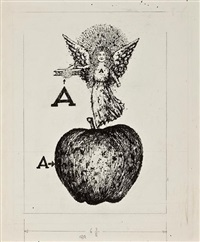 a (airplane/angel/apple)(illustration for a is for angel) by benito (beni) montresor