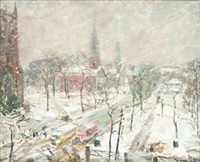 winter landscape by frederick lester sexton