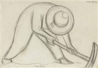 road worker by diego rivera