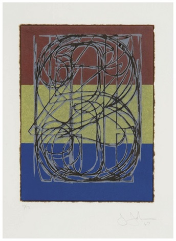 0 through 9 ulae 34 by jasper johns