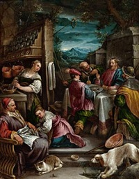 supper at emmaus by francesco bassano the younger