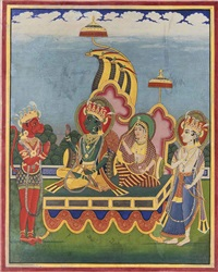 a large painting of the coronation of rama and sita by anonymous-indian (19)