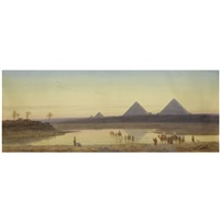 travellers before the pyramids, egypt by charles vacher