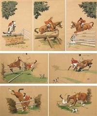 scènes d'obstacles (7 works) by etienne le rallic