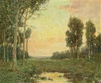 the meadow brook, nutley, new jersey by arthur hoeber