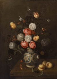 bodegón de flores con jarrón by johannes bosschaert