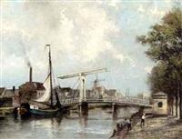 view of the overtoom, amsterdam by jan van der linde