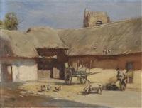 cour de ferme a st. blimont (picardie) by rudolf ribarz