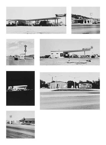 selected works from twenty six gasoline stations 7 works by ed ruscha