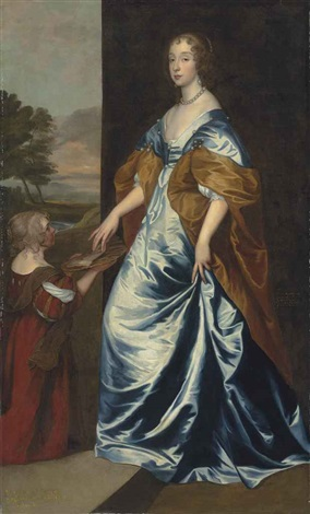 portrait of mary villiers 1622 1685 lady herbert later duchess of lennox and richmond by sir anthony van dyck