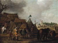 a military encampment by palamedes palamedesz the elder