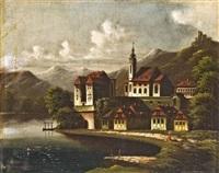 apátság a hegyi tó partján by johann wilhelm jankovszky