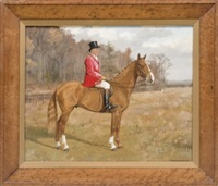jinete a caballo (partida de cacería) by frances mabel hollams