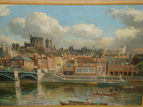 windsor castle from the river by max hofler