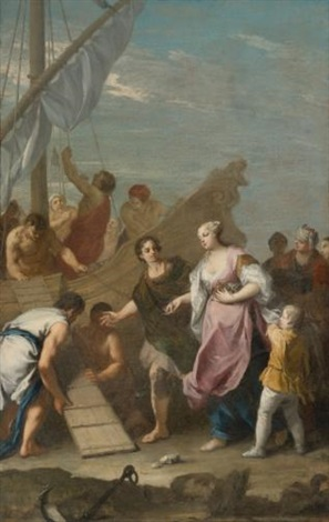 the embarkation of helen of troy by jacopo amigoni