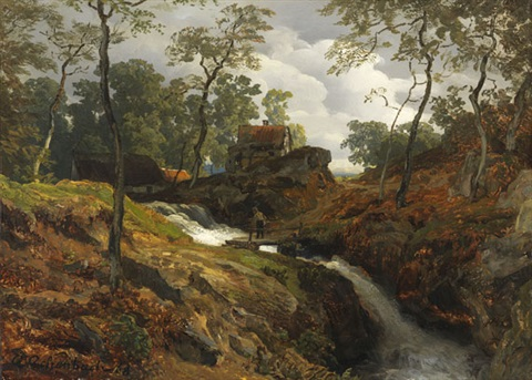 am wildbach by andreas achenbach