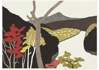 autumn in tadami, river. shimotsubaki by kiyoshi saito