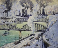 steel mills, pittsburgh by frederick r. wagner
