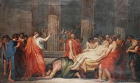 the raising of lazarus by jacques louis jules david