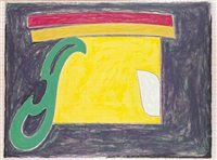 mysterious bird of ulieta (from exotic bird series) by frank stella