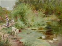 feeding the ducks by henry john yeend king
