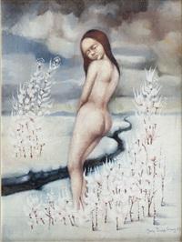 akt w pejzażu zimowym by jerzy duda-gracz
