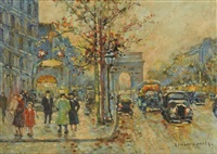 parisian street scene by edward cortes