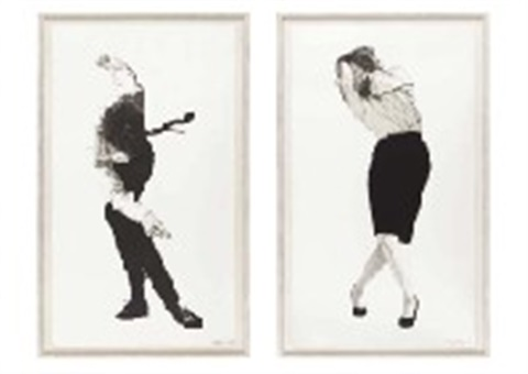 eric and cindy set of 2 by robert longo