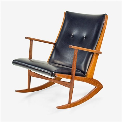 kubus rocking chair by georg jensen co