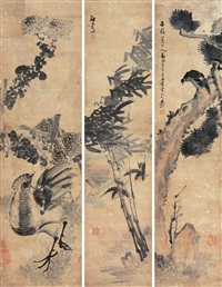 花鸟 (in 3 parts) by li shijun