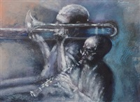 two musicians by noel rockmore