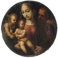 the holy family with the infant saint john the baptist by girolamo del pacchia