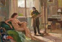 il pittore e la modella by ovidio gragnoli