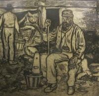 le vieux berger by edouard (eugène françois) vallet