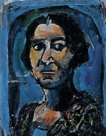 Étude pour le portrait de Marie Thérèse Bonney by Georges Rouault on ...