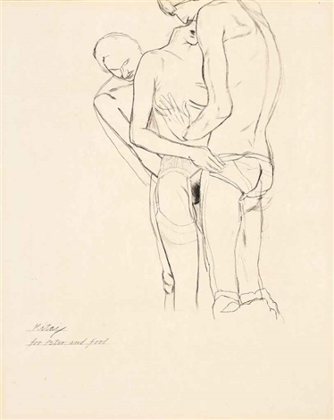 foreplay by ronald brooks kitaj