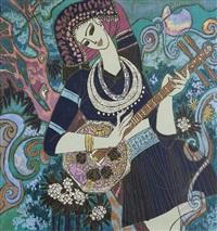 yao maiden with guitar by liu keming