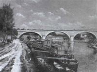 le pont d'argenteuil by ernest bugnicourt