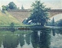 sous les ponte de la dordogne by brett mcentaggart