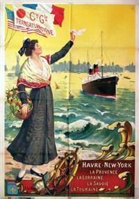 havre - new york, la provence, la lorraine, la savoie, la touraine by fernand le quesne