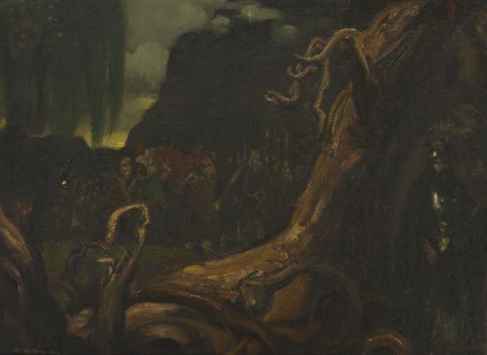 wagnerian scene by arthur bowen davies