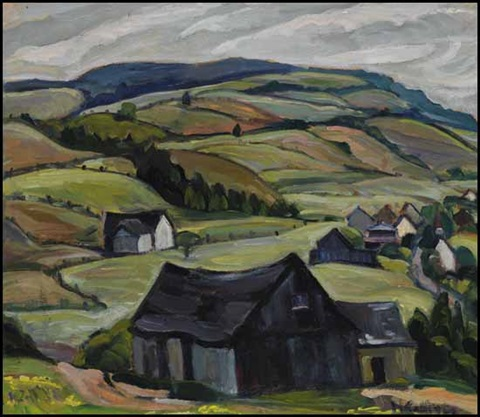 hills back of cap à laigle pq by nora frances elisabeth collyer