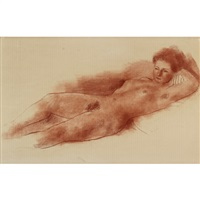 reclining nude by marjorie (jori) elizabeth thurston smith