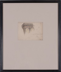 sketches of architectural elements (group of 6 works) by charles robert ashbee