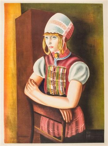 dziewczyna w ludowym stroju by moïse kisling