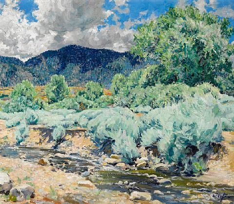 greasewood santa fe river by walter ufer
