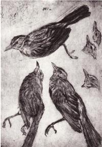 oiseau (study) by michel lauricella