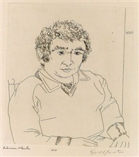 portrait of norman mailer by knox martin