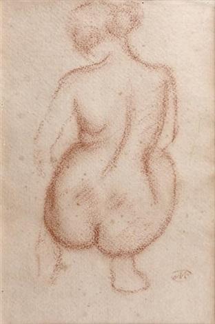 femme nue accroupie de dos by aristide maillol